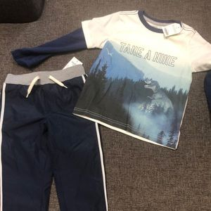 NWT Boys long sleeved shirt and pants!